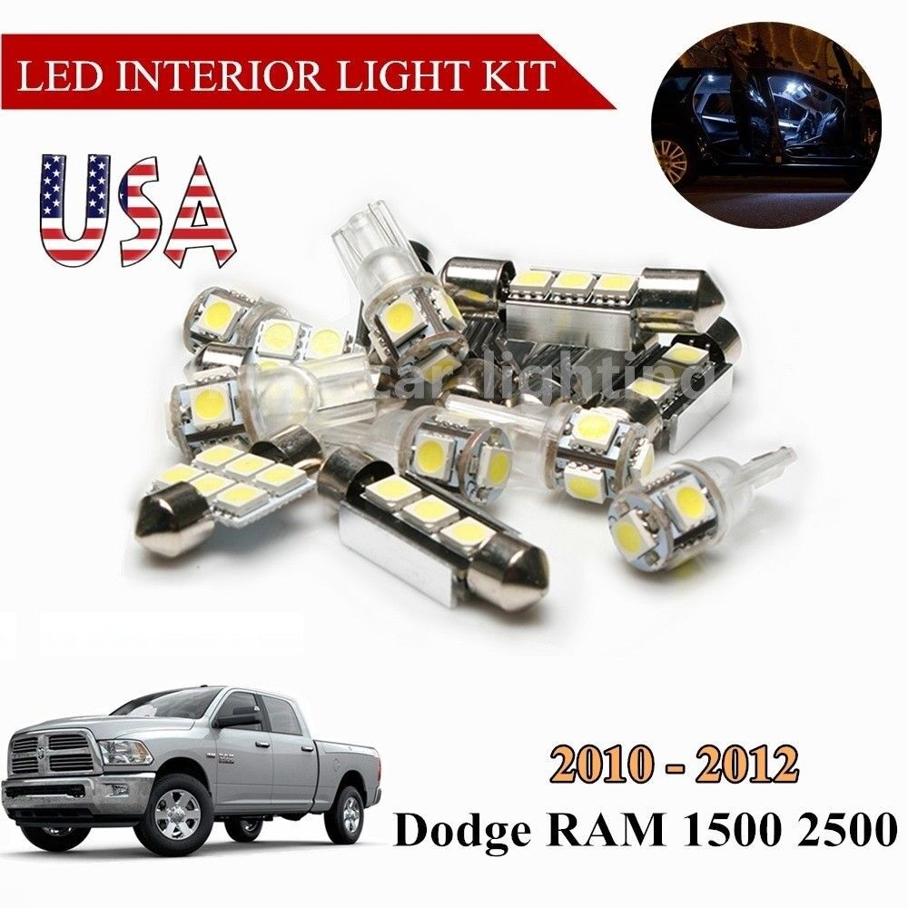 Us 5x Led Lights White Interior Bulbs Package For 2010