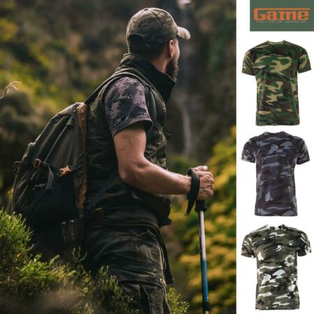img-GAME Men's Camo T Shirt Camouflage Top Army / Military / Hunting / Fishing