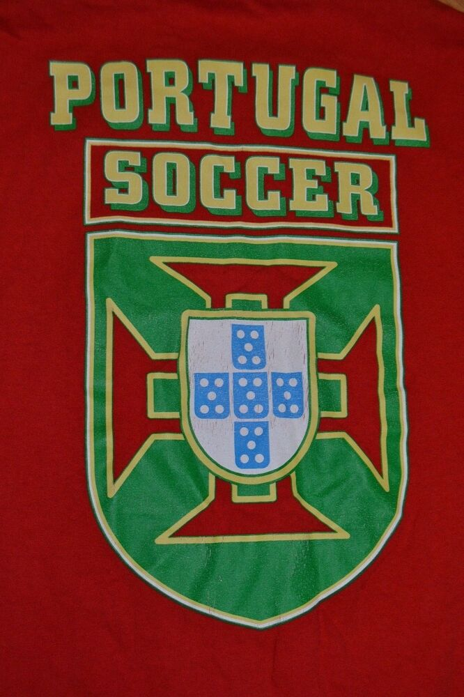 Vintage Portugal Soccer Football National Team Fpf Crest T Shirt