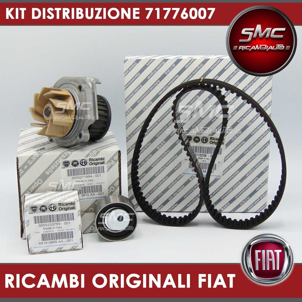kit cinghia distribuzione originale pompa acqua fiat 500 panda punto 1 2 1 4 ebay. Black Bedroom Furniture Sets. Home Design Ideas