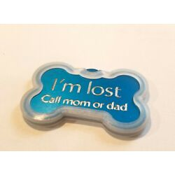 CUSTOM ENGRAVED PET TAG BONE SHAPE WITH SILENCER DOG NAME PERSONALIZED ID TAGS