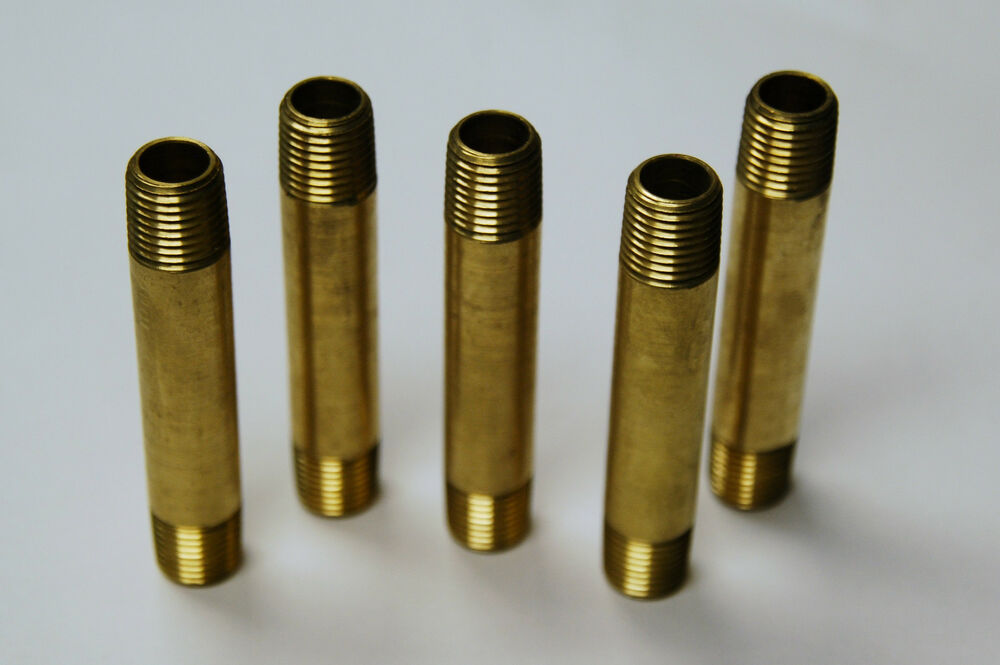 Brass fittings pipe nipples size quot long qty