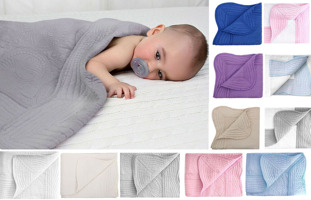 """Comfortable Baby Crib Quilt 100% Cotton 36"""" x 48"""" Quality ..."""