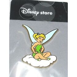 RARE Retired Japan Disney Pin Tink Tinker Bell On a Cloud Pixie Fairy Sky Angel