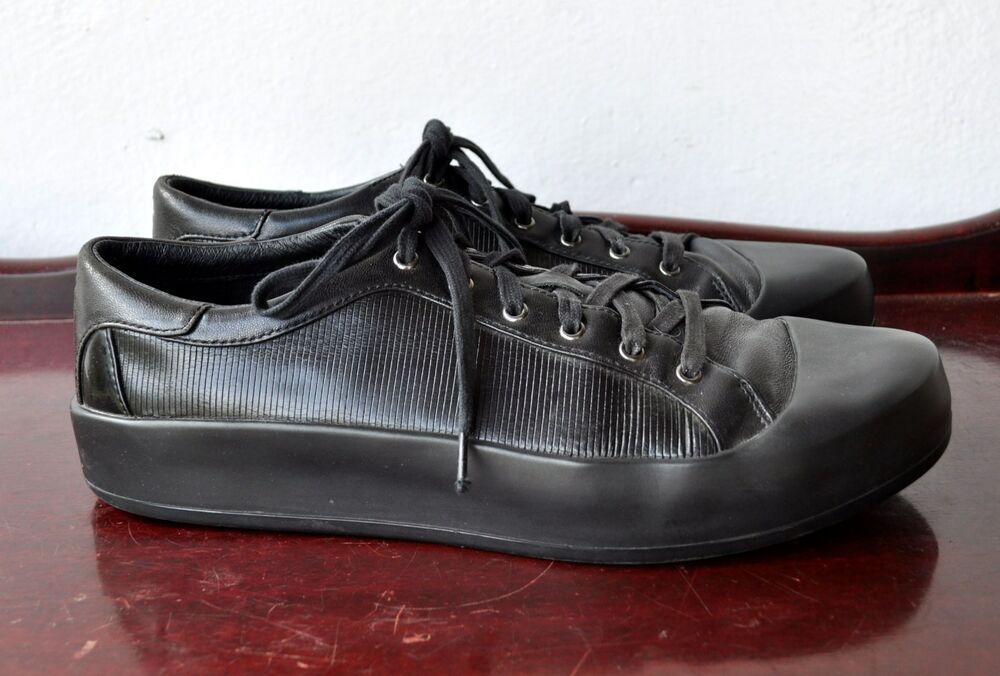 online store 65166 ce251 Details about Y-3 Yohji Yamamoto x Adidas Black Leather Sokuo Sneakers Sz  9.5 US Sold Out Rare