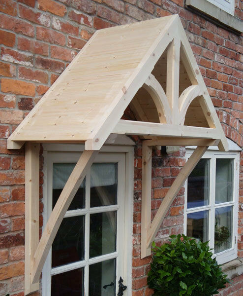 Timber Front Door Canopy Porch Blakemere Shropshire