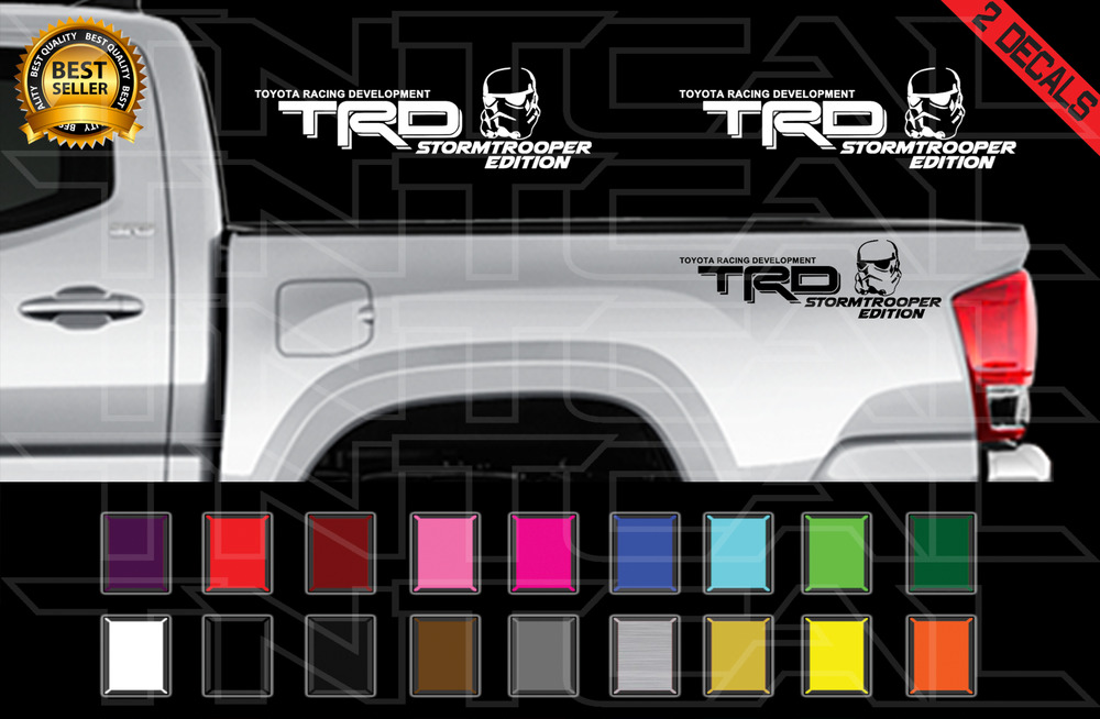 TRD STORMTROOPER EDITION Decals Toyota Tacoma Tundra Star ...