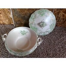antique dish Green from new England