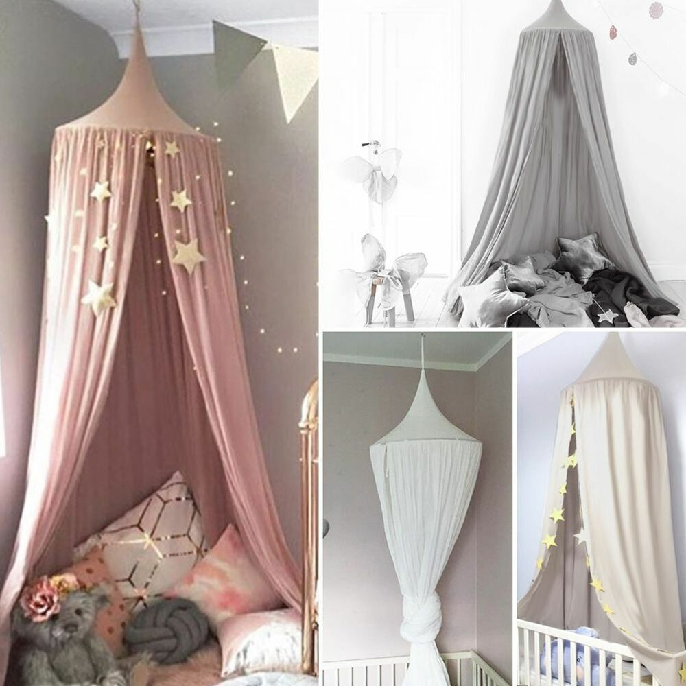 Details About Child Baby Bed Canopy Netting Bedcover Mosquito Net Curtain Bedding Dome Tent