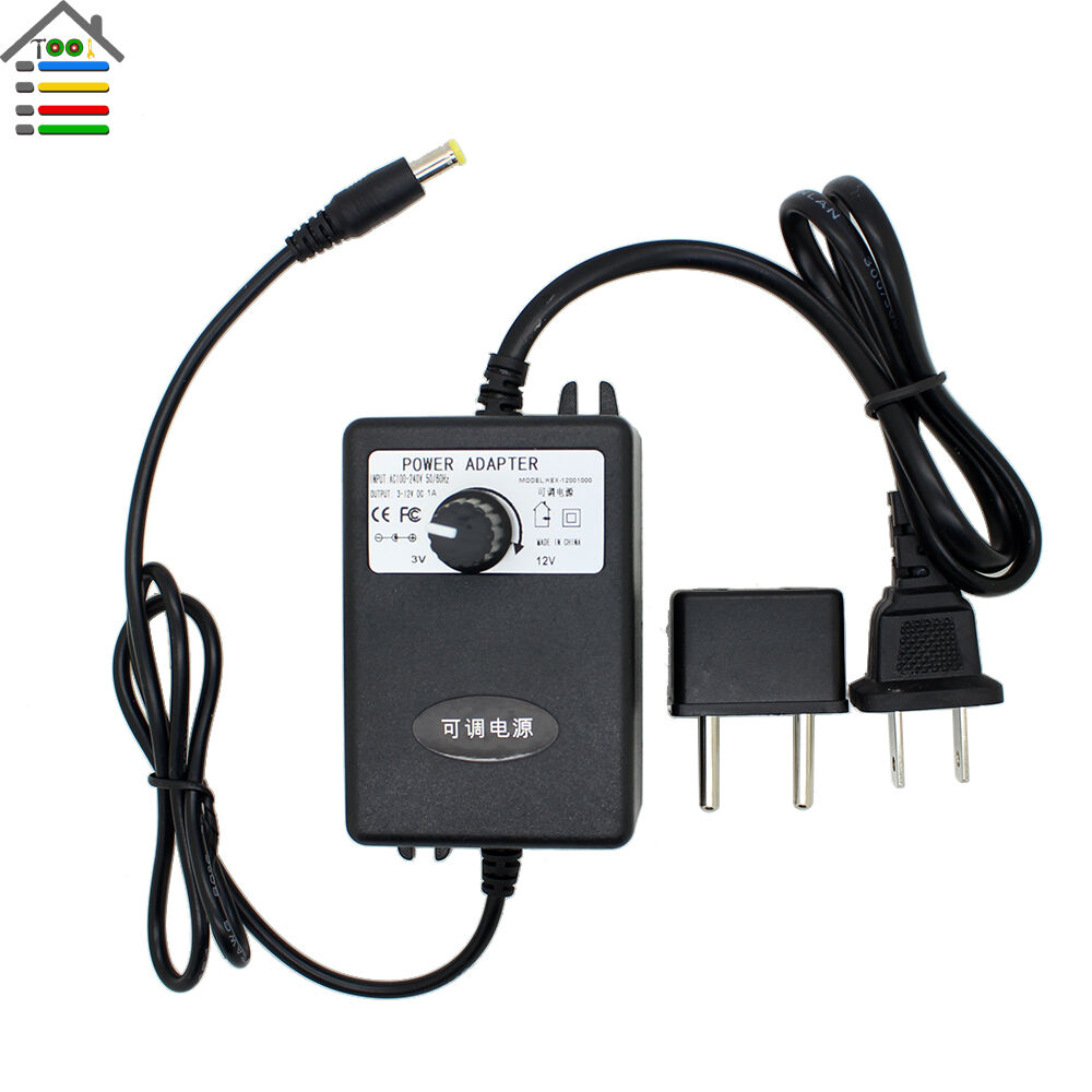Adjustable power supply adapter ac110 240v to dc3 12v1a for 240v motor speed controller