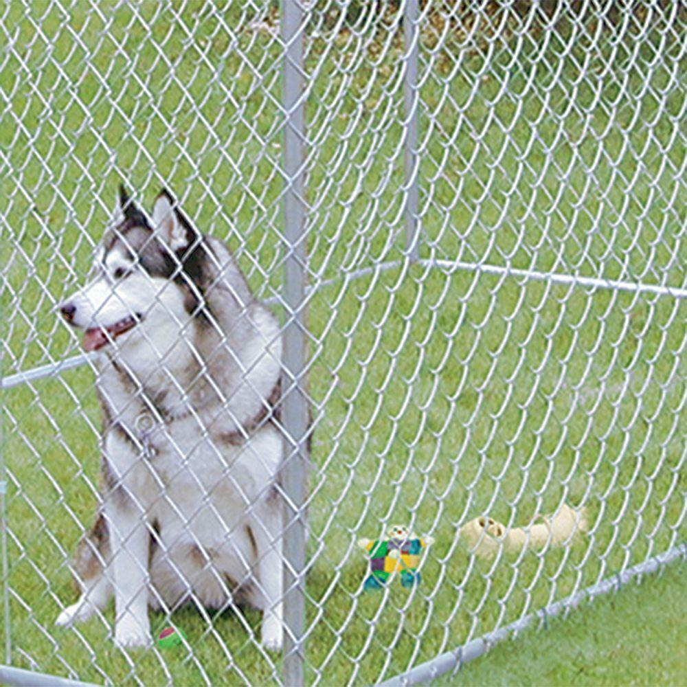 XXL OUTDOOR DOG KENNEL LARGE TALL CHAIN LINK FENCE PET