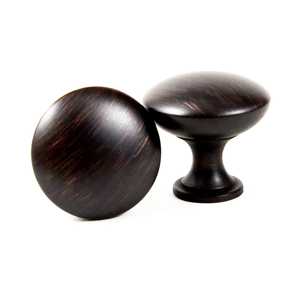 Brush oil rubbed bronze mushroom kitchen cabinet hardware for Kitchen cabinets knobs