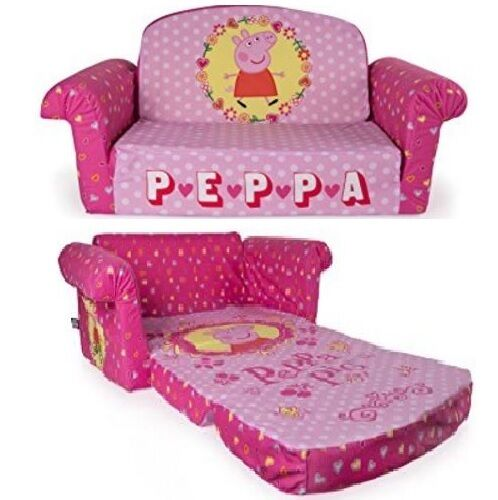 Peppa Pig Flip Open Sofa Convertible Couch Chair Lounger Bed Kid