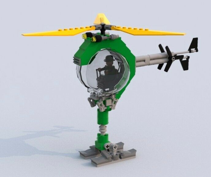 Custom Lego Batman Movie Riddlers Question Mark Helicopter