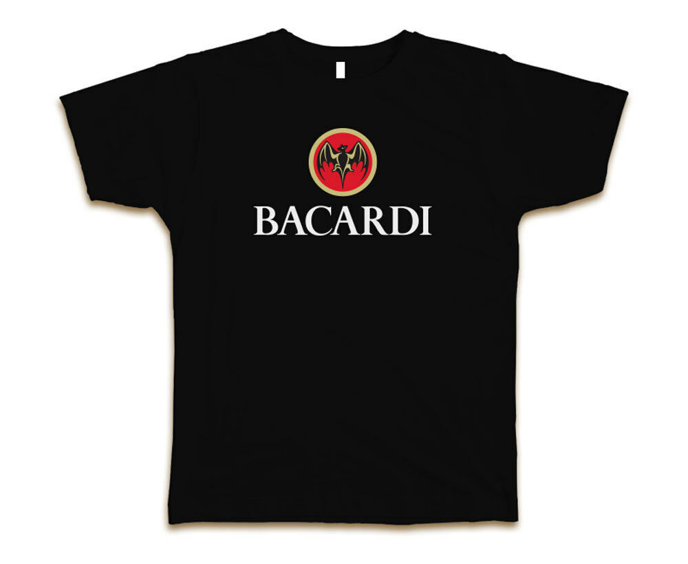 bacardi logo custom mens fashion t shirt tee s 3xl new black ebay. Black Bedroom Furniture Sets. Home Design Ideas