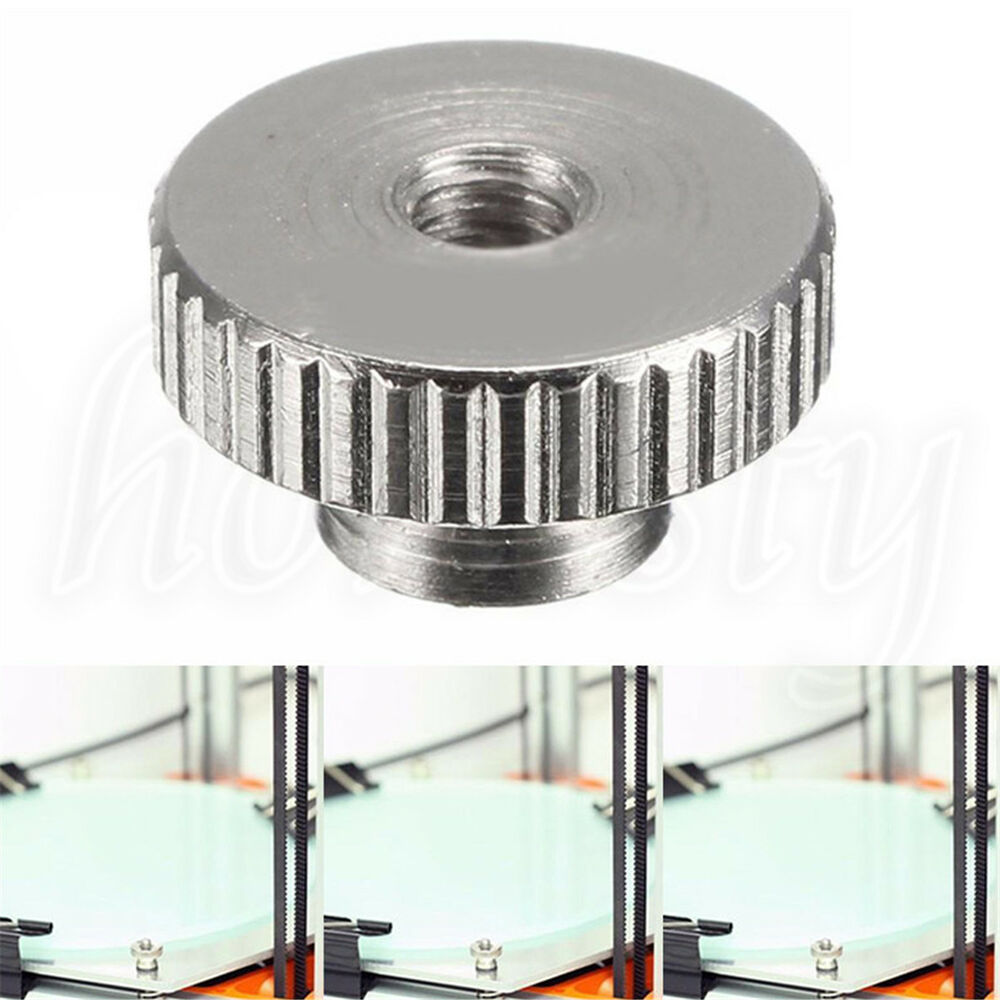 Leveling Parallel Nuts : Screw nut leveling thumb mm for d printer m spring