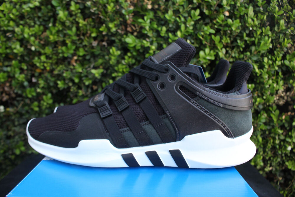 free shipping 28138 d180c Details about ADIDAS EQT SUPPORT ADV SZ 12 MILLED LEATHER PACK CORE BLACK  WHITE 91 16 BB1295
