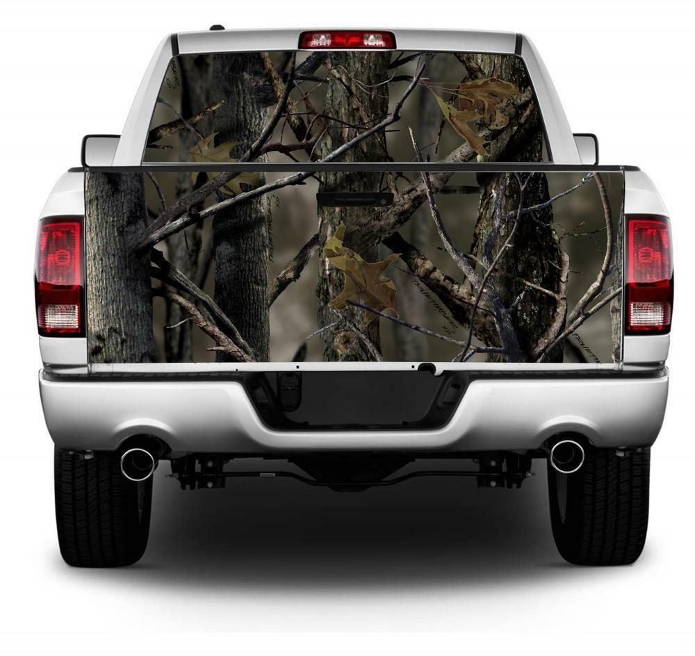 Real Tree Camo Flag Wrap Rear Window Tailgate Graphics