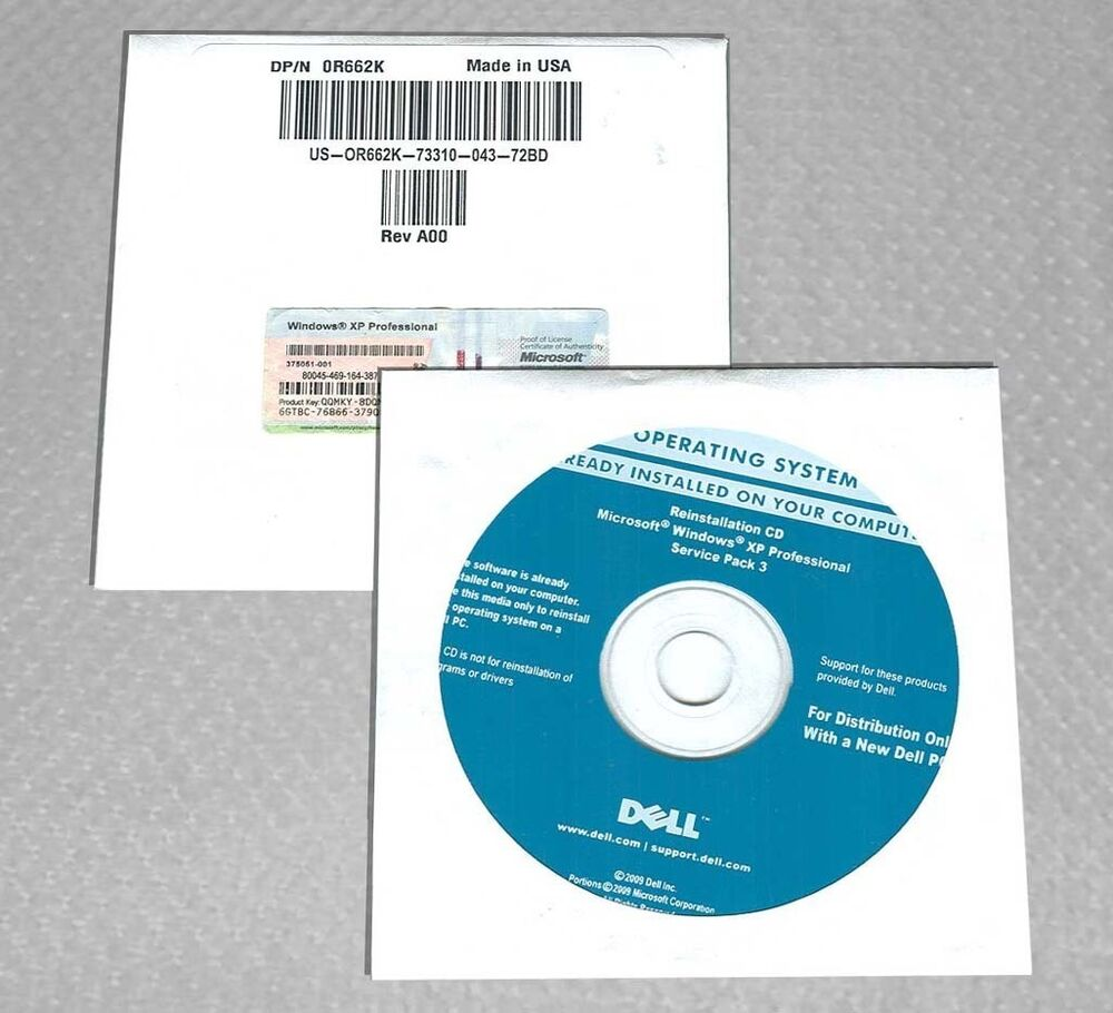 Microsoft Windows XP Professional Disc SP3 Full Version ...