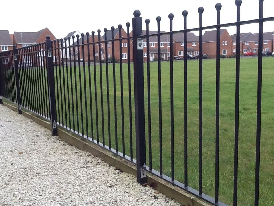 Ft wrought iron metal fencing railings railing ball top