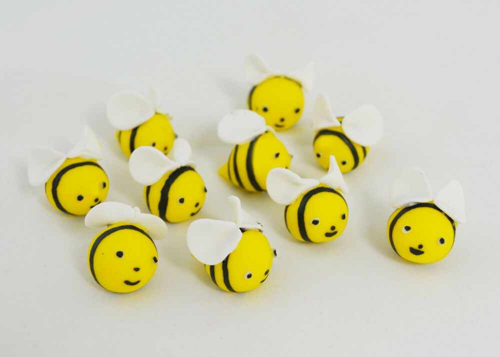 Bumble Bee Sugar Cake Decorations