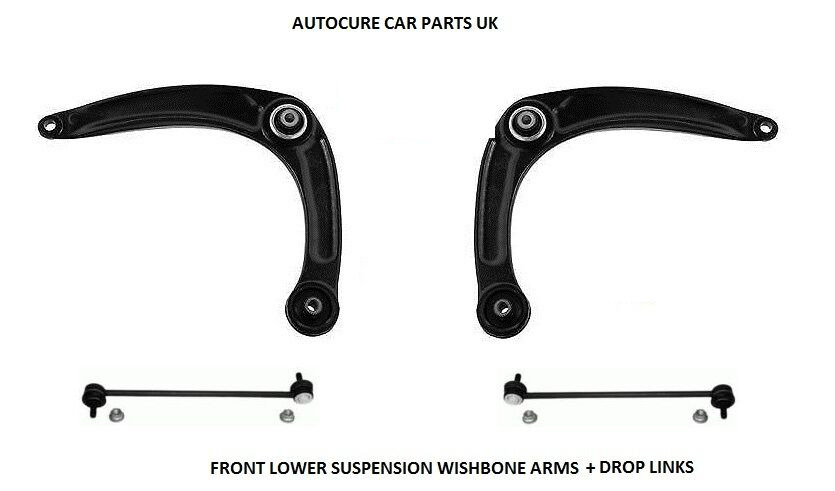 peugeot 308 308sw 2 x front suspension lower wishbone arms + drop
