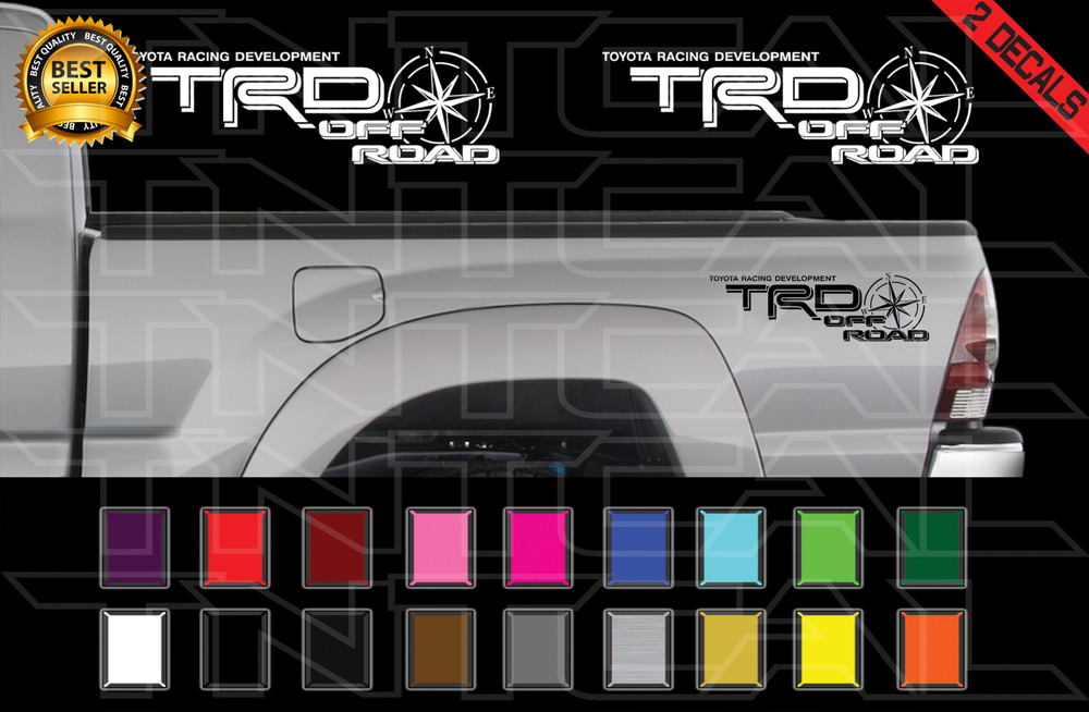 New Toyota Tacoma >> TRD Off Road COMPASS Decals Toyota Tacoma Racing Vinyl Stickers X2 06-11 | eBay
