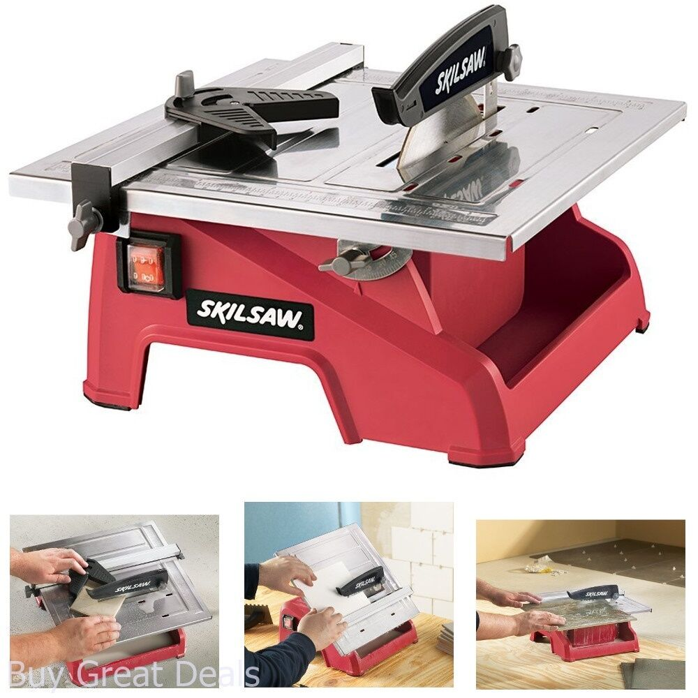 Electric Ceramic Tile Saw Marble Cutter Wet Dry W 7in