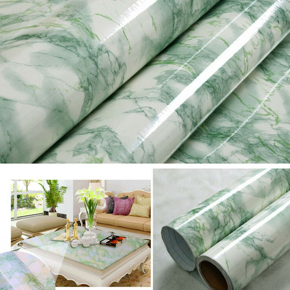 green graniteware marble contact paper vinyl film self. Black Bedroom Furniture Sets. Home Design Ideas
