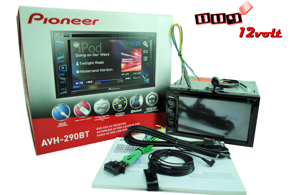 pioneer avh 290bt 6 2 bluetooth dvd free video bypass. Black Bedroom Furniture Sets. Home Design Ideas