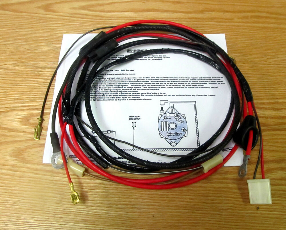 1957 Chevy Alternator Conversion Wire Harness Internal