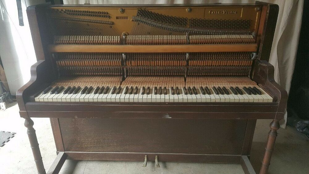Antique Upright Cable Nelson Piano Long Time Single