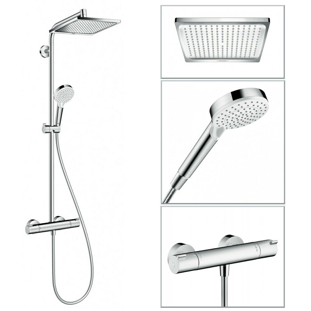 hansgrohe showerpipe crometta e 240 brausesystem. Black Bedroom Furniture Sets. Home Design Ideas