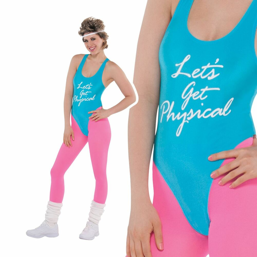 80s Lets Get Physical Costume Ladies Sport Exercise