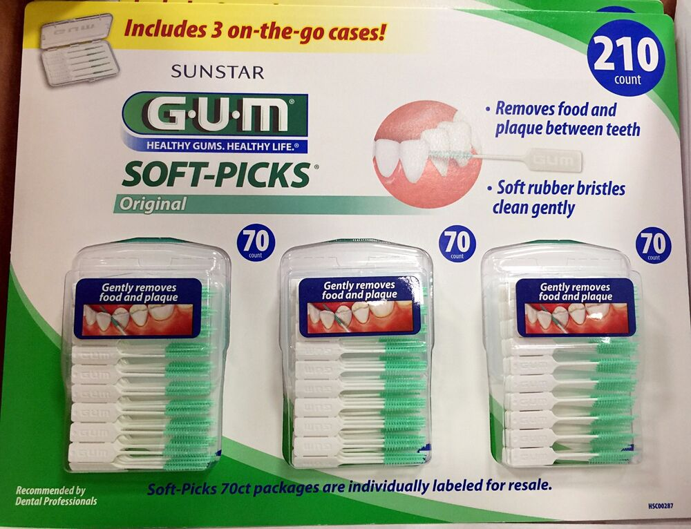 gum soft picks how to use