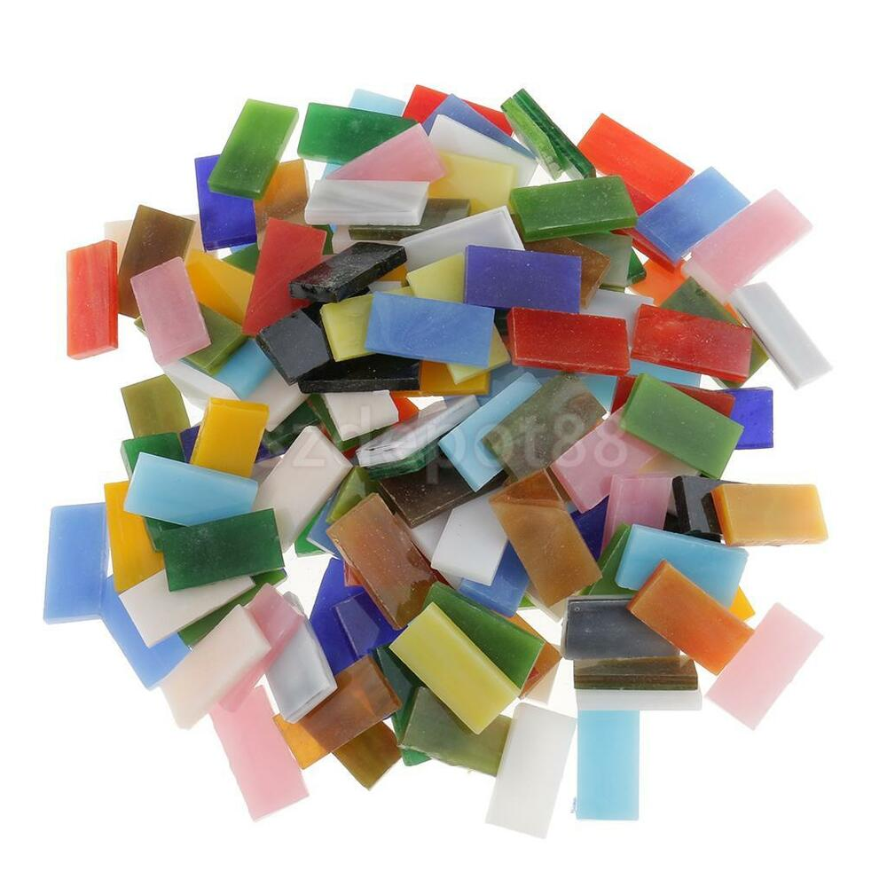 150pcs multicolor rectangle glass pieces mosaic tiles for for Mosaic pieces for crafts
