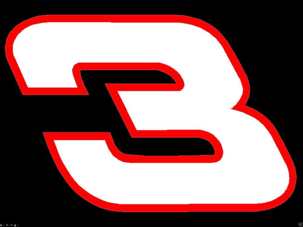 4 x 6 dale earnhardt sr number 3 window decals vinyl for Window number