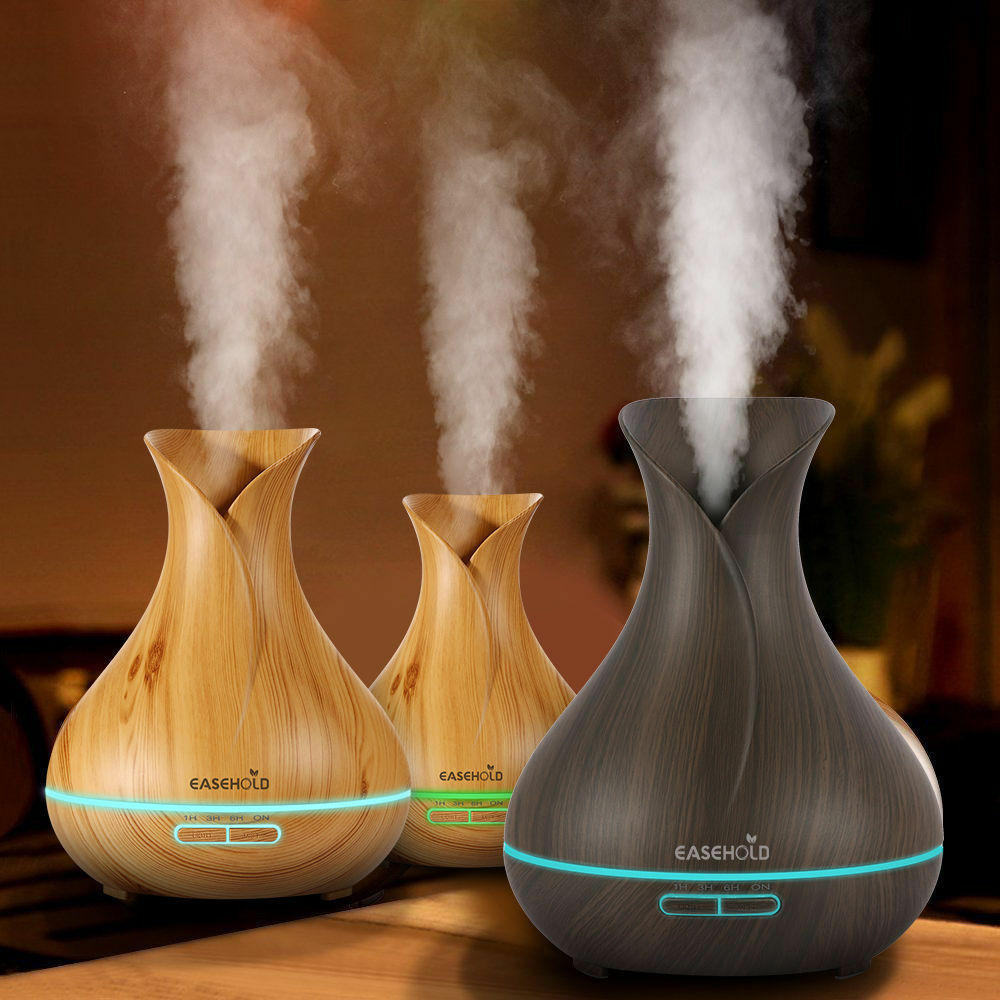 easehold humidifier ultrasonic air aromatherapy essential oil diffuser 400ml us ebay. Black Bedroom Furniture Sets. Home Design Ideas