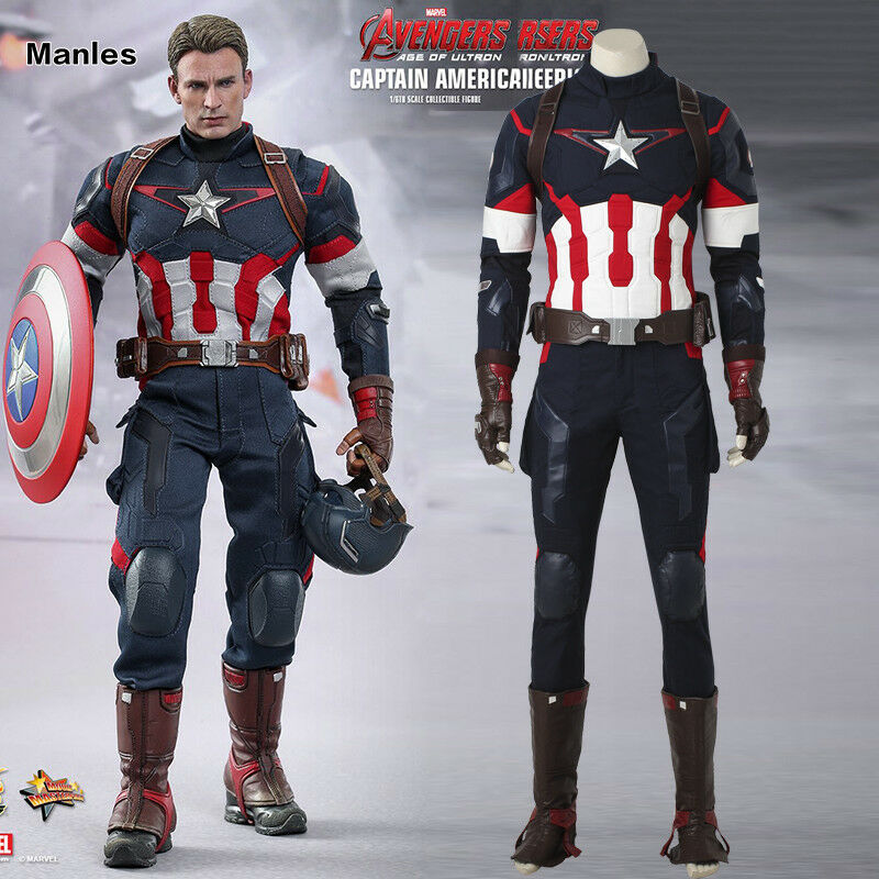 Avengers 2 Age of Ultron Captain America Cosplay Steve Rogers Costume New Style | eBay