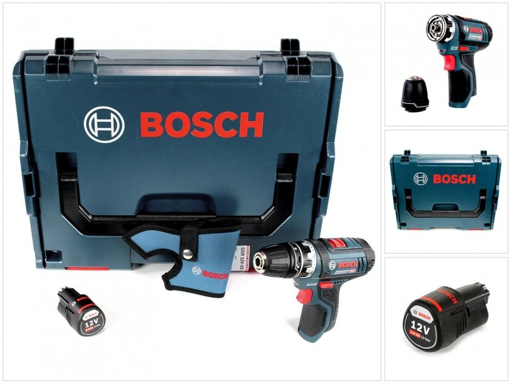 bosch gsr 12v 15 fc professional flexiclick bohrschrauber mit 2 ah akku l boxx ebay. Black Bedroom Furniture Sets. Home Design Ideas