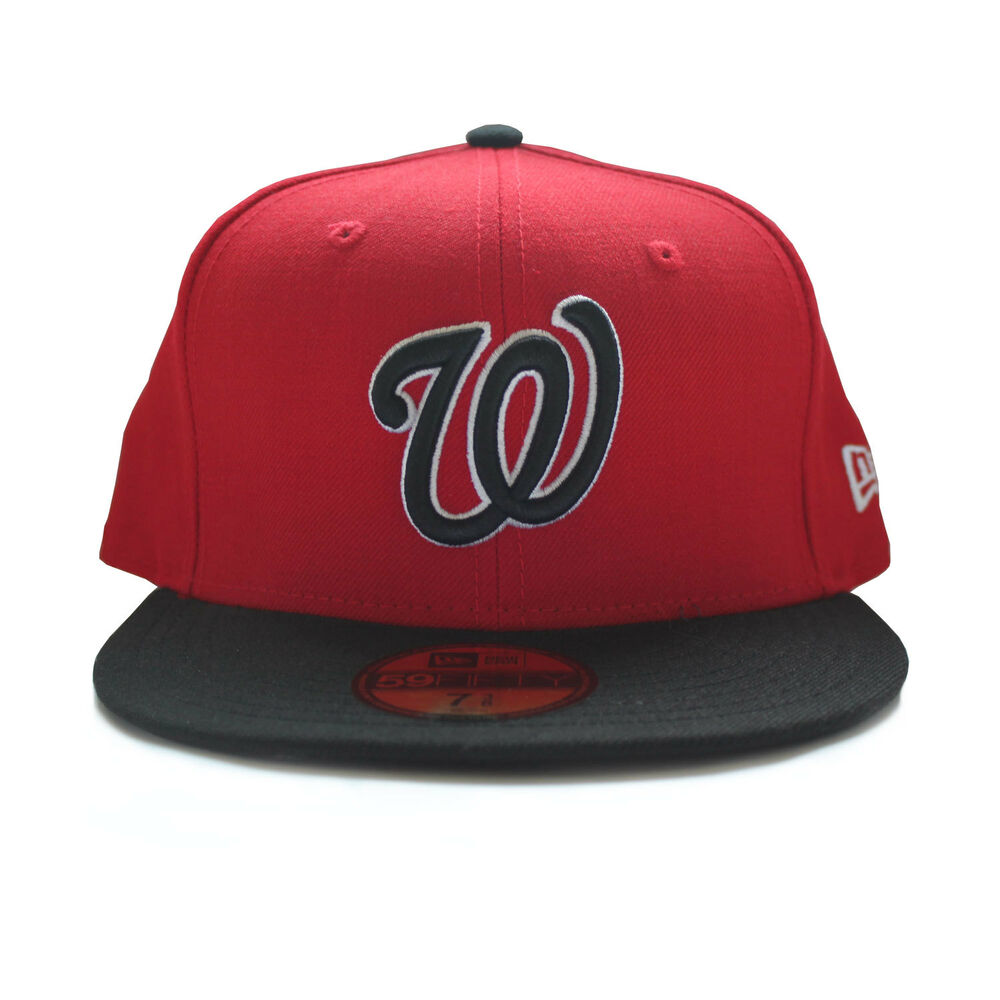 81a5f130816 Details about NEW - Washington Nationals New Era MLB Hat - Men s Fitted Cap  (Red