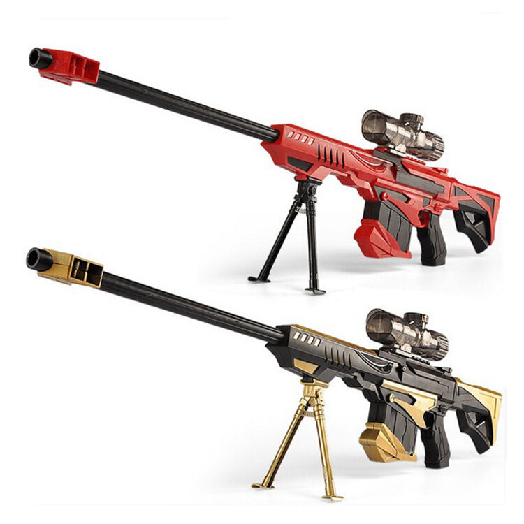 Amazon.com: LOBZON Children Toy Sniper Rifle Soft Bullet Electric Shooting  Toy Gun Blaster: Toys & Games