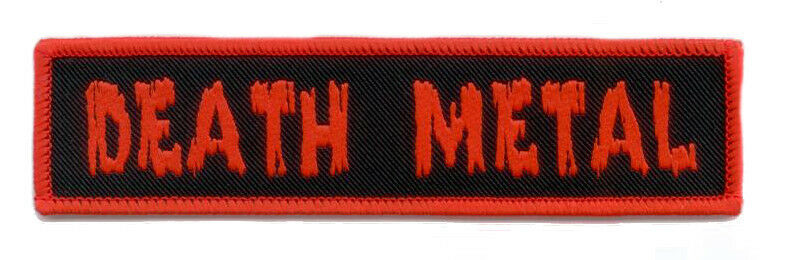 death metal woven patch gewebter aufn her deathmetal kutte. Black Bedroom Furniture Sets. Home Design Ideas