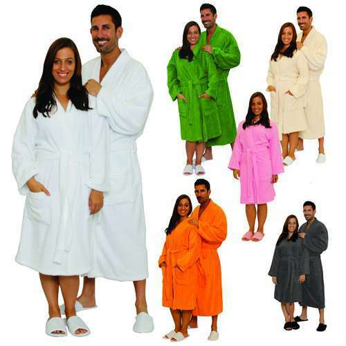 c13fe32603 Details about Customized Terry Cloth Cotton Bathrobe Men Women Robe Best  Gift with Embroidery