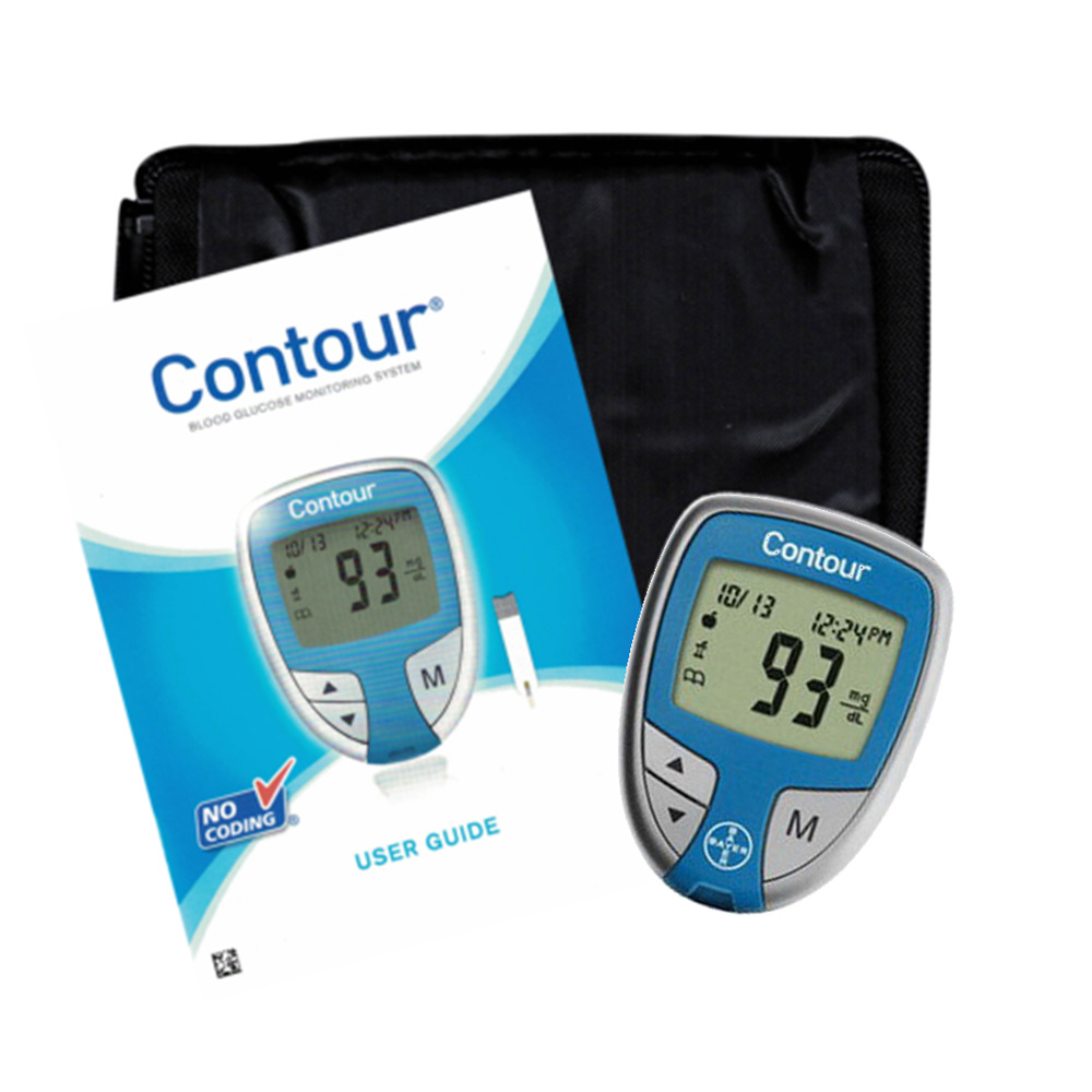 New Bayer Ascensia Contour Blood Glucose Diabetes Monitor
