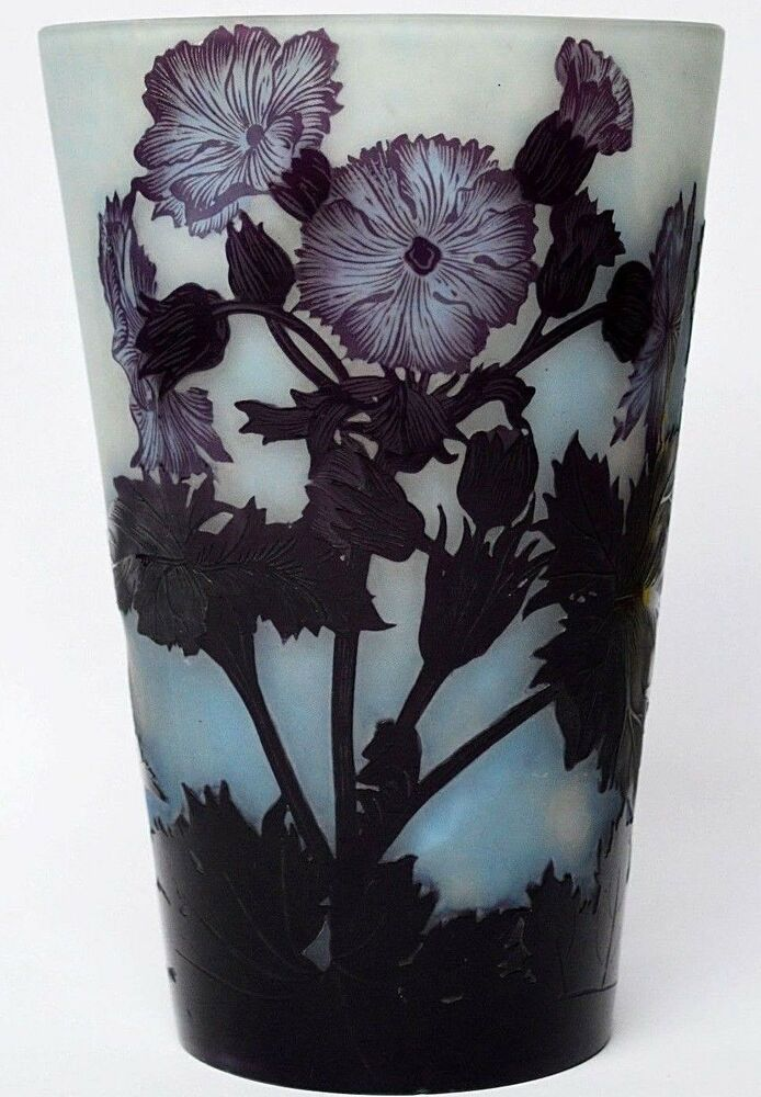 gro e glasvase vase berfangglas signiert andre delatte nancy 1920er h he 25 cm ebay. Black Bedroom Furniture Sets. Home Design Ideas