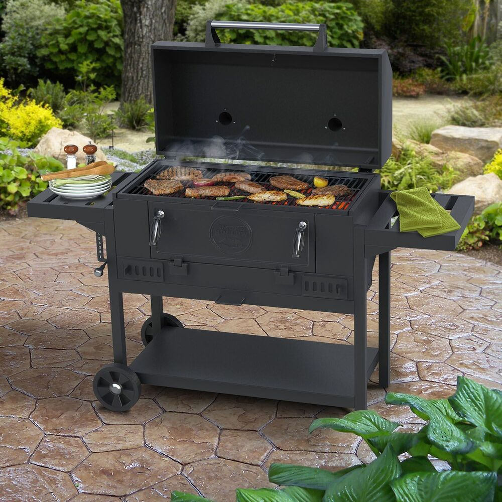 """Smoke Hollow 36"""" Deluxe Charcoal BBQ Grill NEW"""