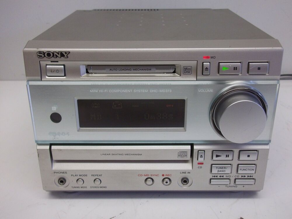 sony dhc md373 mini hifi minidisc tuner amp and cd. Black Bedroom Furniture Sets. Home Design Ideas