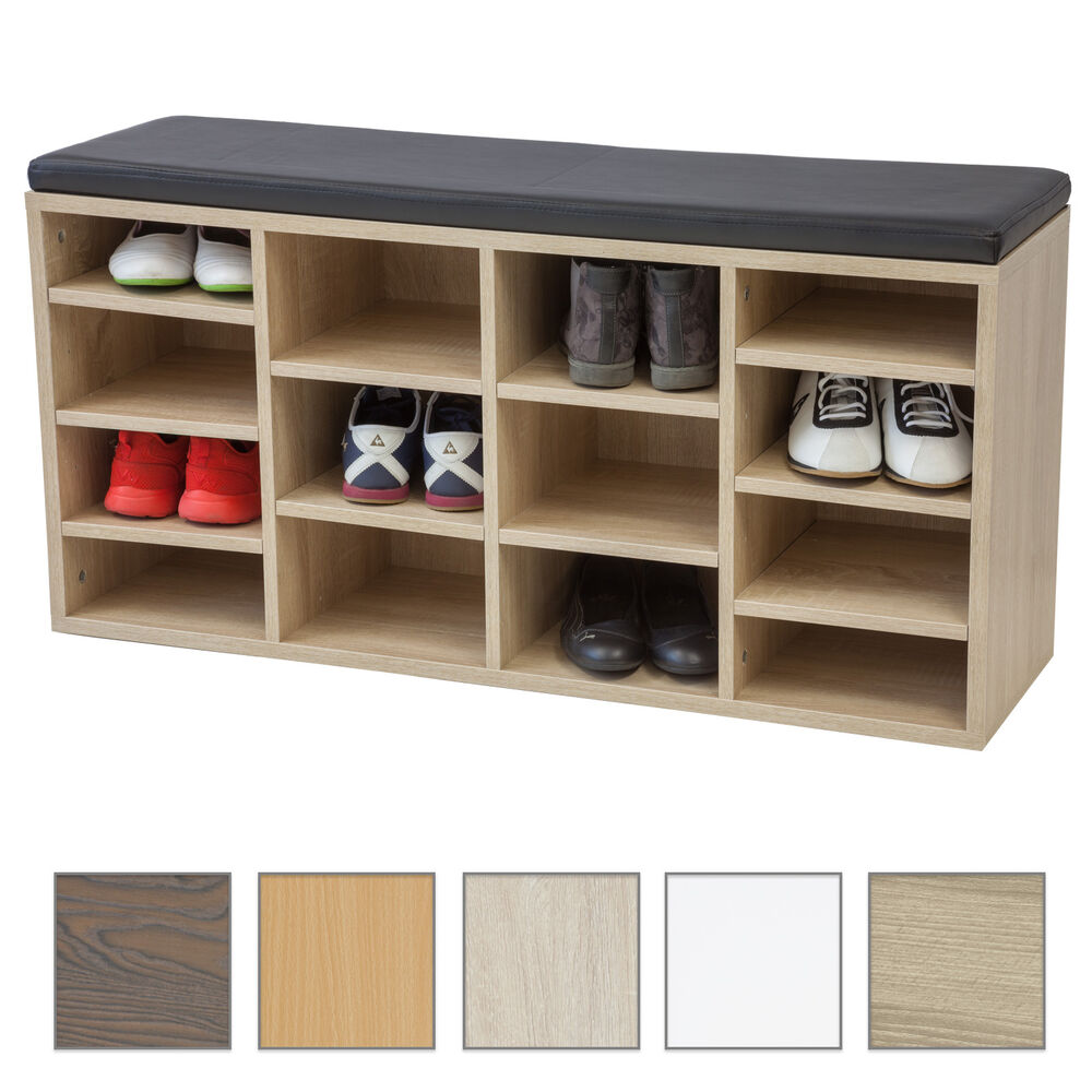 schuhschrank vincent mit sitzkissen farbe w hlbar kommode schuhregal sitzbank ebay. Black Bedroom Furniture Sets. Home Design Ideas