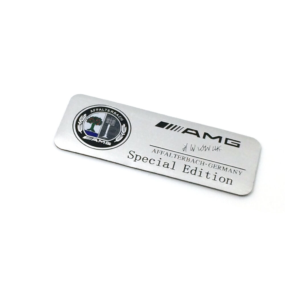 Metal silver amg logo special edition badge car sticker for Mercedes benz amg emblem